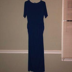 Motherhood Maternity Blue Maxi Dress